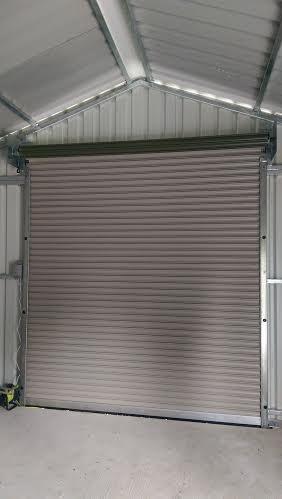 Roller Door Inside View Green Industrial