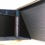 2 x Black Industrial Roller Doors