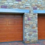 2 x Golden Oak Georgian Sectional doors