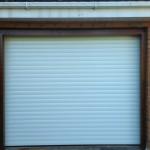 White roller door